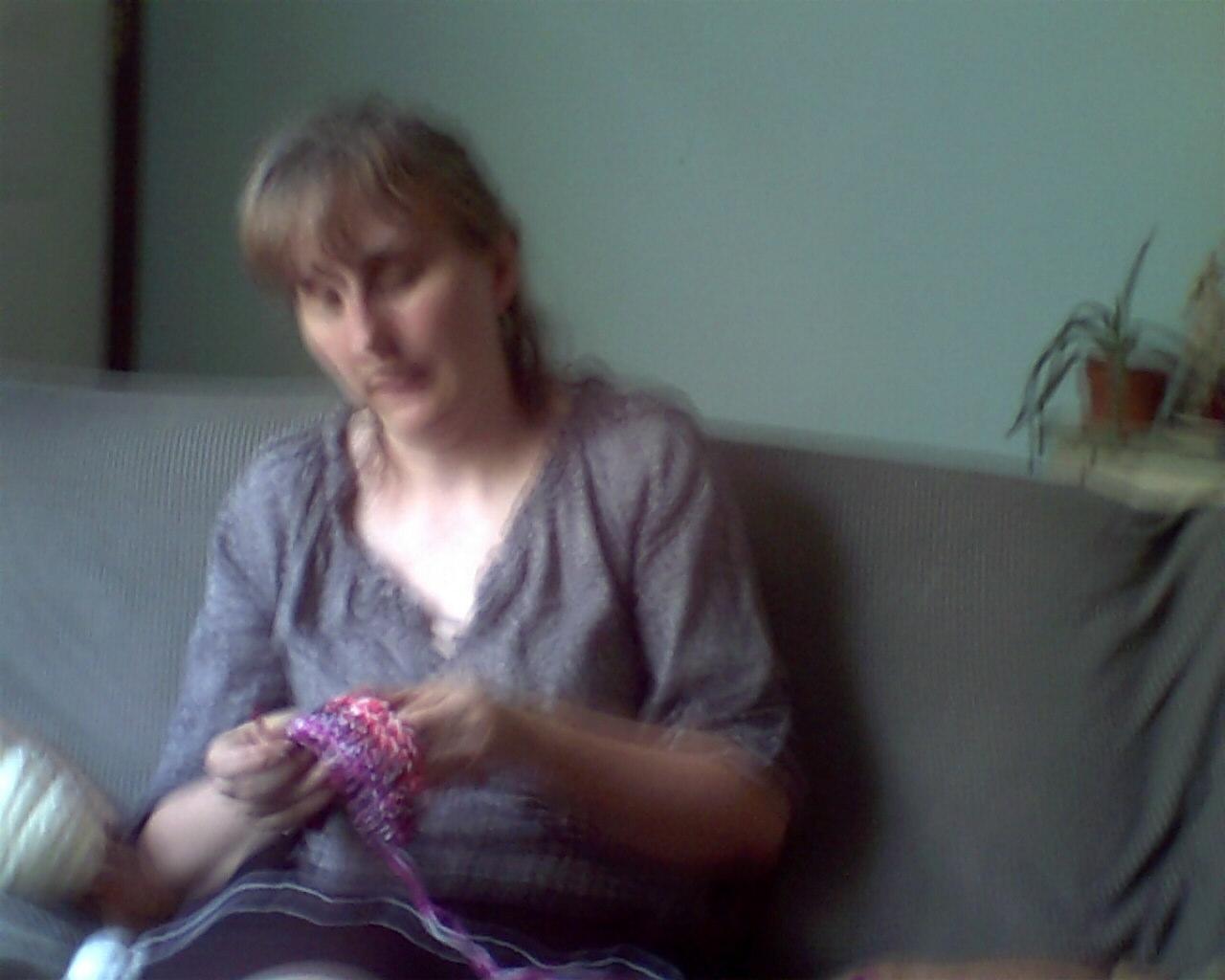 Me crocheting